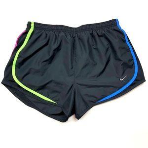 NIke Dri-Fit Black Running Shorts Built in Briefs